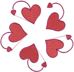 Heart Circle embroidery design