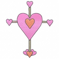 Cross Heart embroidery design