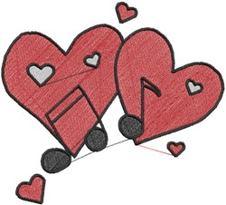 Heart Music embroidery design