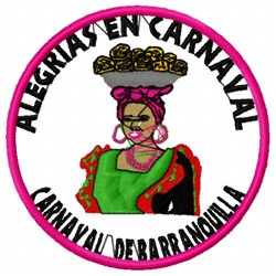 Carnaval Woman embroidery design