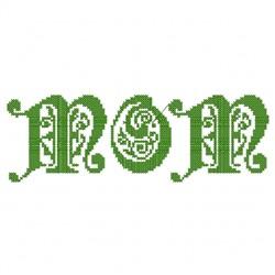 Mom Bold embroidery design