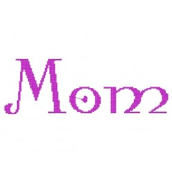 Mom Modern embroidery design