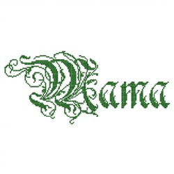 Mama Fancy embroidery design