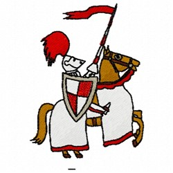 Midieval Knight embroidery design