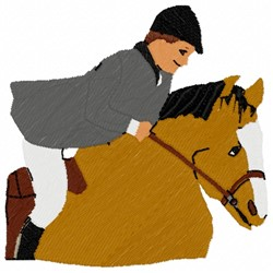 Jockey On  Horse embroidery design