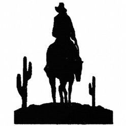 Cowboy Desert embroidery design