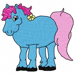 Colorful Pony embroidery design