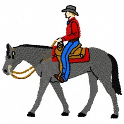 Cowboy Trot embroidery design