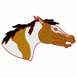 Angry Horse embroidery design