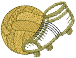 Soccer Shoe Ball embroidery design