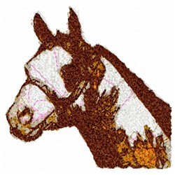 Halter Stallion embroidery design