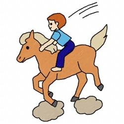 Horse Boy embroidery design