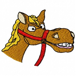 Horse Smile embroidery design