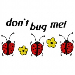 Bug Me embroidery design