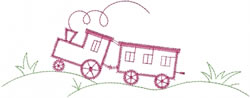 Toy Train Outline embroidery design