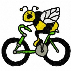 Bee On Bike embroidery design