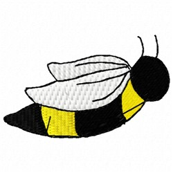 Bee Flying embroidery design