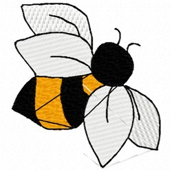 Top Bee embroidery design