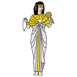 Cleopatra Woman embroidery design