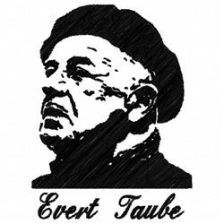 Evert Taube embroidery design
