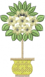 Topiary Floral Tree embroidery design