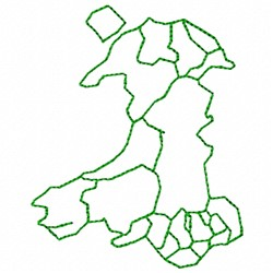 Outline Wales embroidery design