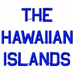 Hawaiian Islands embroidery design