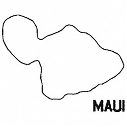 Maui embroidery design