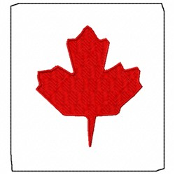 Canadian Maple embroidery design