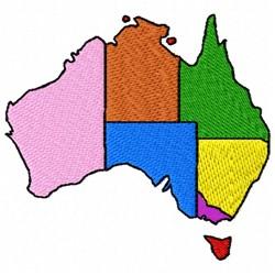 Australian States embroidery design