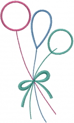 Balloon Outline embroidery design