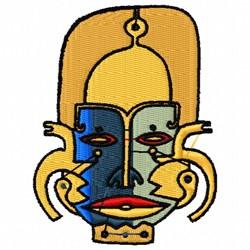 Native Mask embroidery design