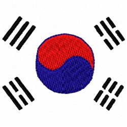 Korean Flag embroidery design