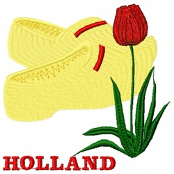 Holland Flower embroidery design