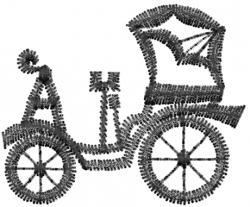 Antique Car Outline embroidery design