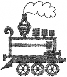 Toy Locomotive Outline embroidery design