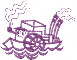 Toy Tugboat embroidery design