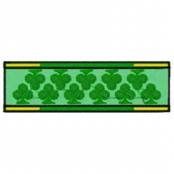 Clover Banner embroidery design