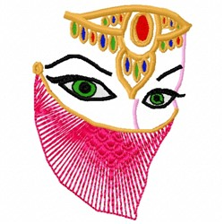 Exotic Face embroidery design
