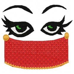 Masked Face embroidery design