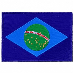 Brazil Flag embroidery design