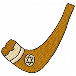 Shofar embroidery design