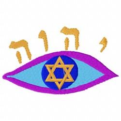 Jewish Eye embroidery design