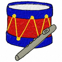Fife & Drum embroidery design