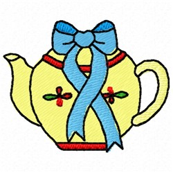 Teapot Bow embroidery design