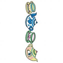 Teacup Pot embroidery design