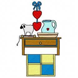 Kitchen Counter embroidery design