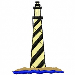 Spiral Lighthouse embroidery design