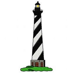 Diagonal Lighthouse embroidery design