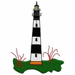 Stripe Lighthouse embroidery design